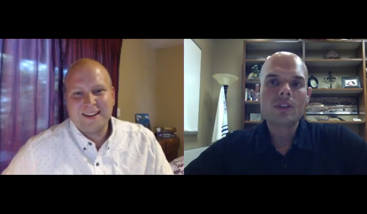 Screen shot of Larry Largent interviewing author and teaching pastor Brad Gray