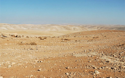 A view of the Judean wilderness east of Bethlehem. Photo Courtesy of BiblePlaces.com