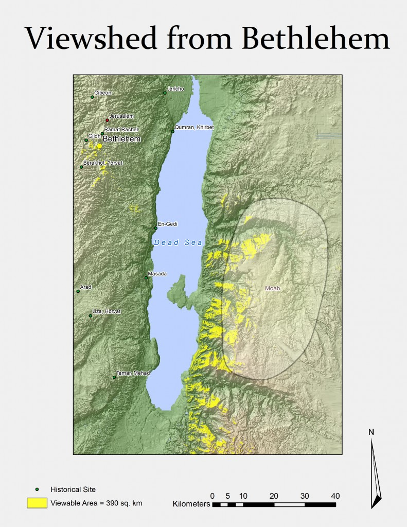 Land visible from bethlehem