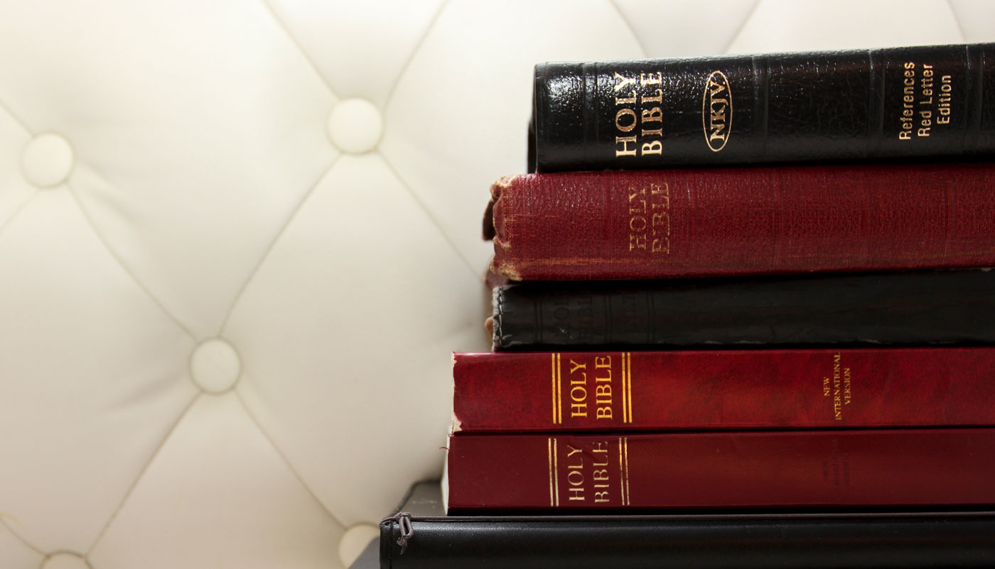 Stack of Bibles.